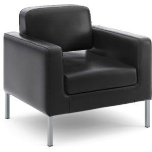 Hon Soft Thread Leather Lounge Chair