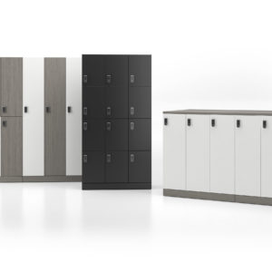 Lockers with Many Heights and Arrangements