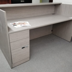 Rectangular Reception with Built-In Drawers