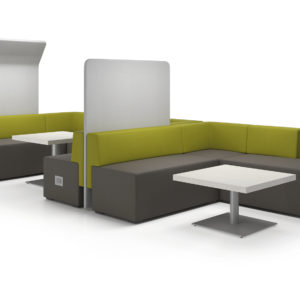 Downtown Meeting Spaces with Phone Charging Modules